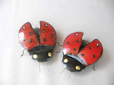 Lady Bug Mosquito Coil Holder