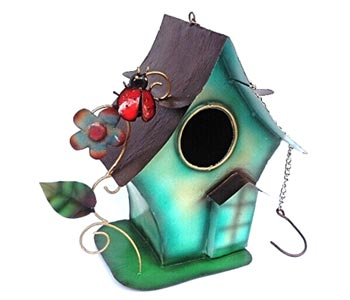 Bird house Holder - Bali Wholesale Metal Crafts Garden Ornaments
